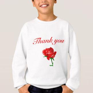 danke Rote Rose Sweatshirt