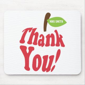 Danke rotes Apple für Lehrer-Anerkennung Mauspad