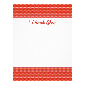 Danke rotes Muster Bedruckte Flyer