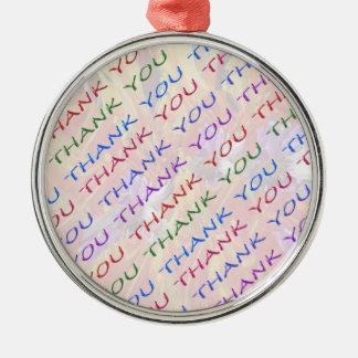 DANKE Rückholgeschenk - eine welche Idee Silbernes Ornament