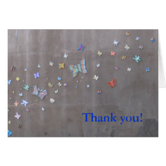 Danke!  Schmetterlinge in San Diego Karte