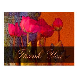Danke schöne Tulpen Postkarte