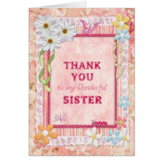 Danke Schwester, Blumenhandwerkskarte Grußkarte