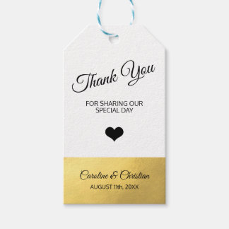 DANKE spezieller Tagesweiße schwarze Herz-Hochzeit Geschenkanhänger
