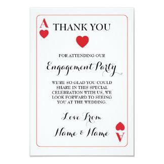 Danke Spielkarte-Herzass rot 8,9 X 12,7 Cm Einladungskarte