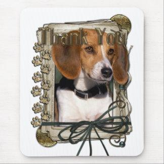 Danke - Steintatzen - Beagle Mauspad