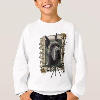 Danke - Steintatzen - Deutsche Dogge - Grau Sweatshirt