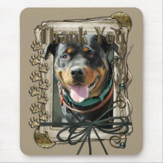 Danke - Steintatzen - Rottweiler - SambaParTi Mauspads