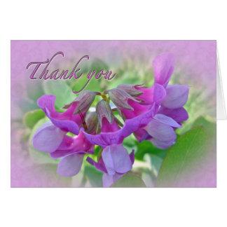 Danke Strand-Erbsen-Wildblume Karte