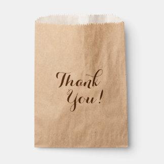 Danke, Taschen zu bevorzugen Geschenktütchen