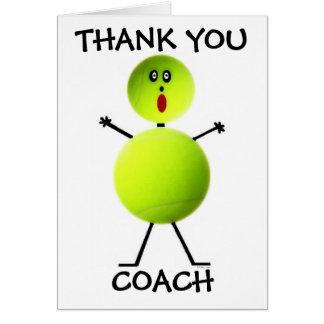 Danke Tennis-Trainer Grußkarten
