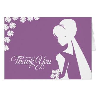 Danke Trauzeugin-BrautBlumen-Hochzeits-Karte Grußkarte