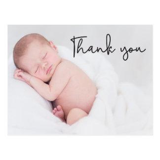 Danke und Baby-Geburts-Mitteilung, Skripttext Postkarte