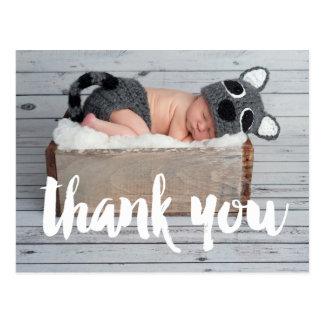 Danke und Baby-Geburts-Mitteilungs-Postkarte Postkarte