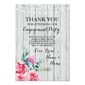 Danke, Verlobungs-Hochzeits-hölzernes rotes Blumen 8,9 X 12,7 Cm Einladungskarte
