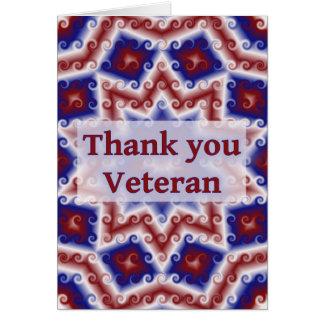 Danke Veteran, rotes weißes blaues abstraktes Grußkarte