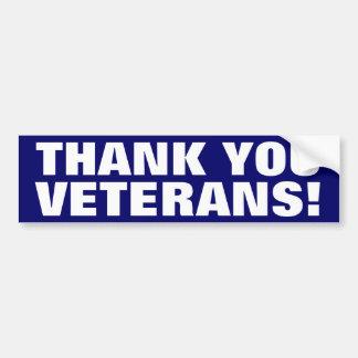 Danke Veterane! Autoaufkleber