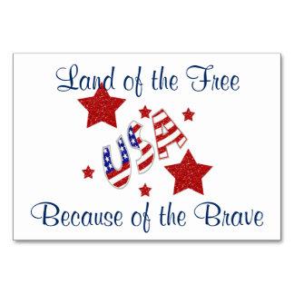 Danke Veteranen-patriotische Tabellen-Karten Karte