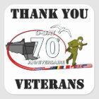 Danke Veteranen - Thank Veteranenyou Quadratischer Aufkleber