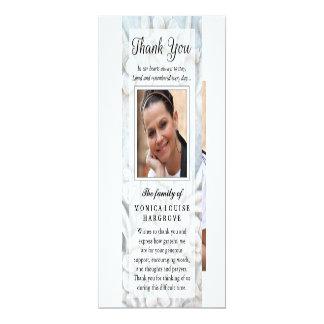 Danke weich weißes BlumenFoto-Denkmal-Gedicht 10,2 X 23,5 Cm Einladungskarte
