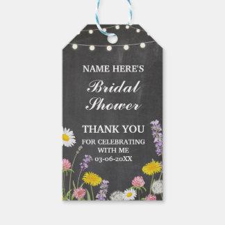 Danke, wildes Blumen-mit BlumenBrautparty zu Geschenkanhänger