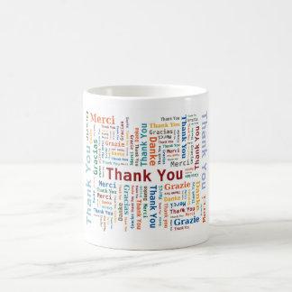 Danke, Wolke in 5 mehrfarbigen Sprachen abzufassen Kaffeetasse
