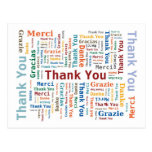 Danke, Wolke in 5 Sprachen abzufassen Postkarten