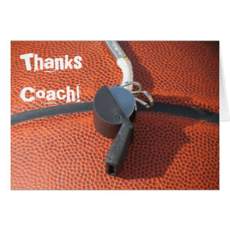 Danke zu kardieren für Basketball-Trainer Grußkarte