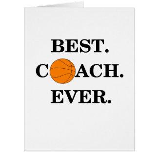 Danke zu kardieren für Basketball-Trainer Karte