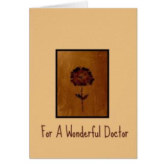 Danke zu kardieren für einen wunderbaren Doktor Karte