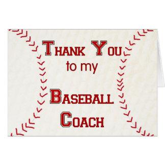 Danke zu meinem Baseballtrainer Karte