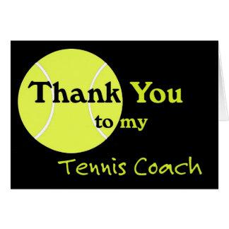 Danke zu meinem Tennis-Trainer Karte