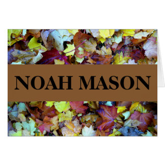 Danke zu merken für Herbstlaub-Sammlung Karte