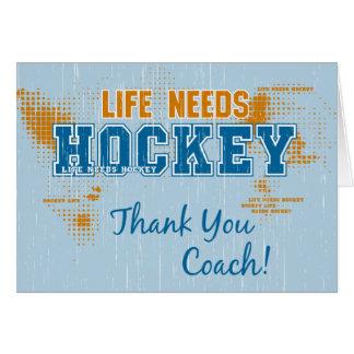 Danke zu trainieren! Das Leben benötigt Hockey-Gru Karte