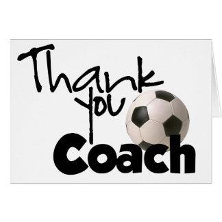 Danke zu trainieren Fußball Grußkarte