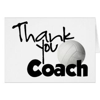 Danke zu trainieren, Volleyball Karte