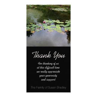 Danken friedliches Beileid Garten der Wasserlilie Karte