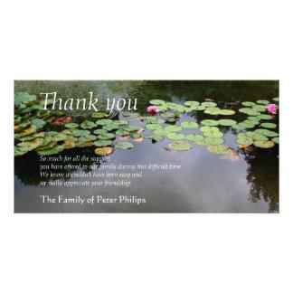 Danken friedliches Garten-Beileid der Karte