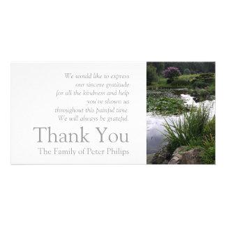 Danken friedliches Teich-Beileid des Garten-2 Karte
