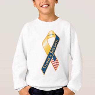 Danken Sie einem Soldaten Sweatshirt
