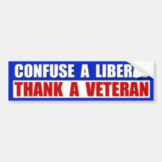 Danken Sie einem Veteran! Autoaufkleber