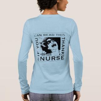 Danken Sie einer Krankenschwester Langarm T-Shirt