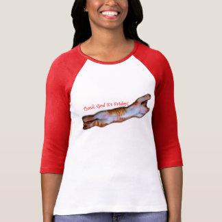Danken Sie Gott, den es müdes Katzen-Shirt T-Shirt