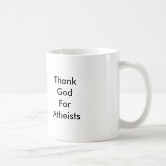 Danken Sie Gott für Atheistenbecher Tasse