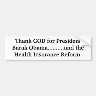 Danken Sie GOTT für Präsidenten Barak Obama ...... Autoaufkleber
