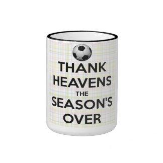Danken Sie Himmeln, welche die Jahreszeit vorbei Ringer Tasse