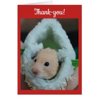 Dankes- Feiertags-Hamster Karte
