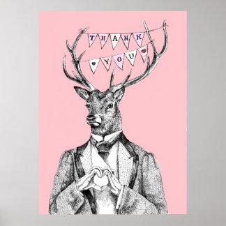 Dankes- Rotwild Poster