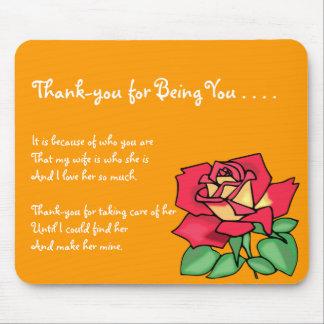 Dankes- Schwiegermutter Mousepad