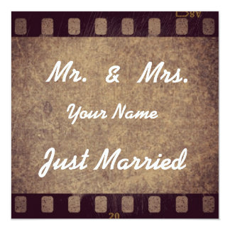 """Dankeskarte """"Just Married"""" Quadratische 13,3 Cm Einladungskarte"""